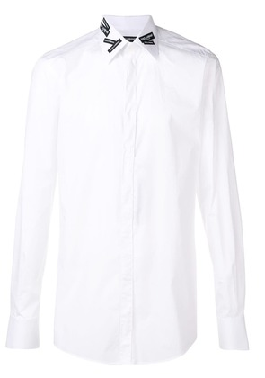 Dolce & Gabbana label-detail shirt - White