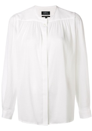 A.P.C. relaxed textured blouse - White