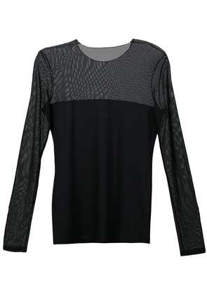 Akris Punto sheer panel blouse - Black