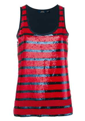 Polo Ralph Lauren striped sequined tank top - Red