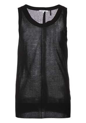 Helmut Lang ribbed trim vest top - Black