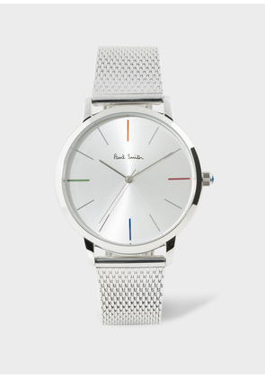 38mm White And Stainless Steel 'Ma' Watch