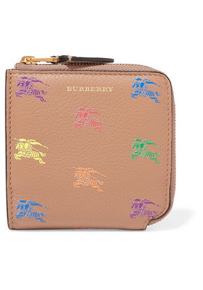 Burberry - Embossed Textured-leather Wallet - Beige