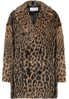 Saint Laurent - Double-breasted Leopard-print Wool-blend Coat - Leopard print