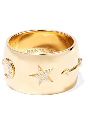 Foundrae - 18-karat Gold Diamond Ring - 7