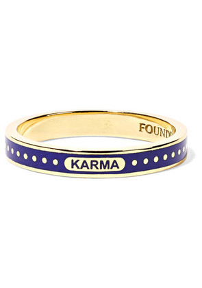 Foundrae - Karma 18-karat Gold Enamel Ring - 7