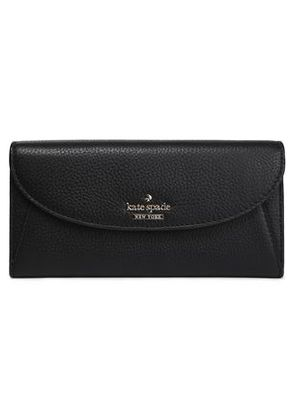 Kate Spade New York Woman Textured-leather Continental Wallet Black Size -