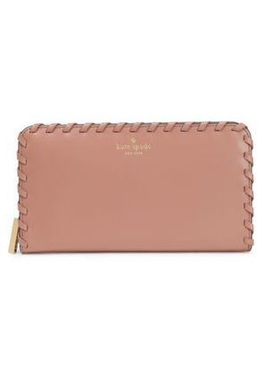 Kate Spade New York Woman Whipstitched Leather Wallet Antique Rose Size -