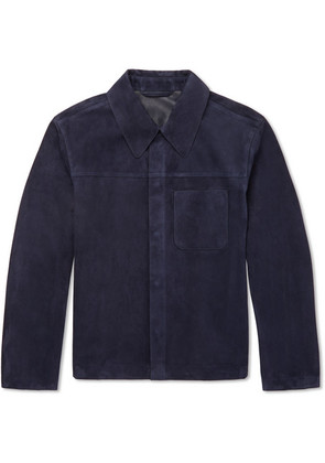 Dunhill - Suede Shirt Jacket - Navy