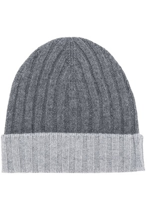 Barba contrast knit cap - Grey