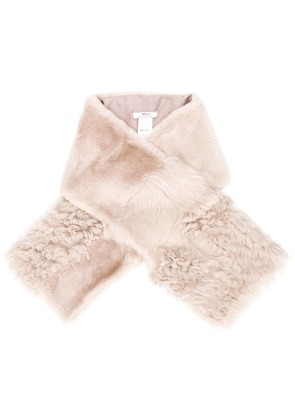 Desa 1972 shearling collar - Neutrals