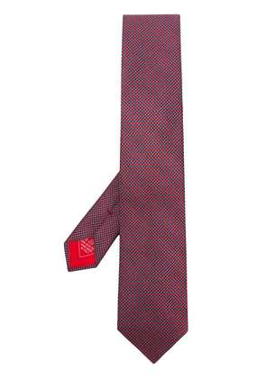 Brioni patterned tie - Red