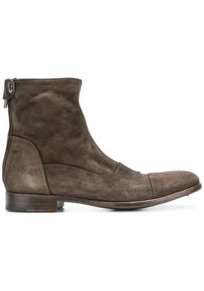 Alberto Fasciani distressed ankle boots - Brown