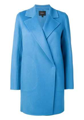 Theory off-centre coat - Blue
