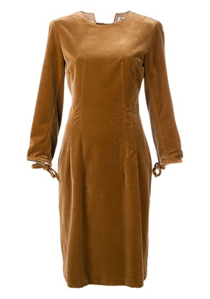 Acne Studios velvet midi dress - Brown