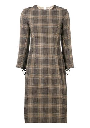 Acne Studios plaid midi dress - Brown