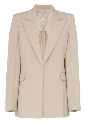 Helmut Lang peak lapel single-breasted blazer - Neutrals