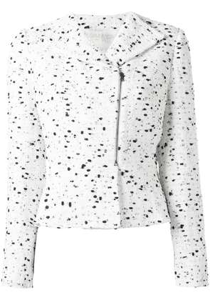 Giambattista Valli zipped tweed jacket - White