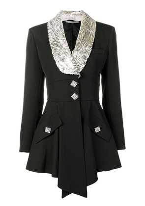Alessandra Rich lamé collar jacket - Black