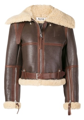 Acne Studios midsize shearling jacket - Brown