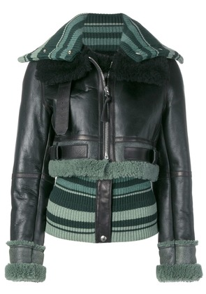 Acne Studios fitted shearling jacket - Black