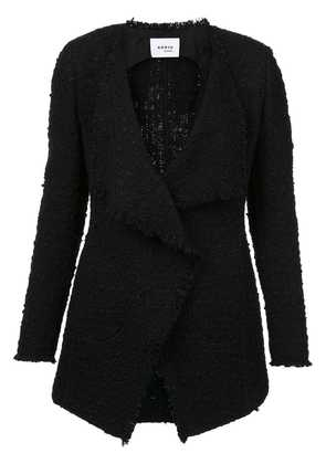Akris Punto frayed edges tweed jacket - Black