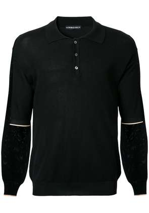 Y / Project layered polo shirt - Black
