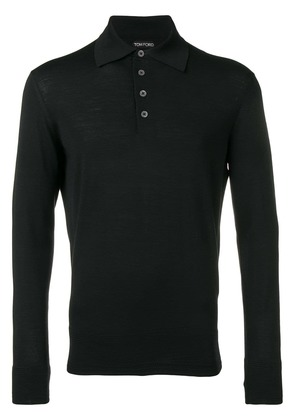 Tom Ford knitted polo shirt - Black