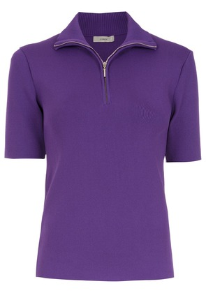 Egrey knitted polo shirt - Purple