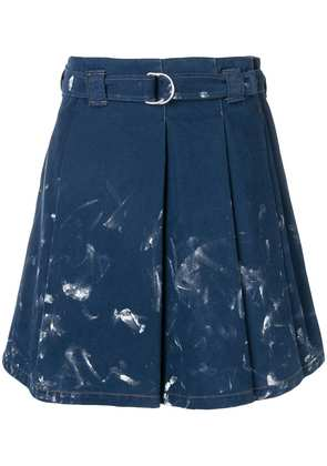 Acne Studios pleated denim skirt - Blue