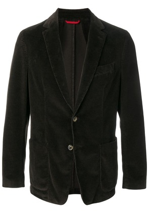 Fay corduroy single-breasted blazer - Brown