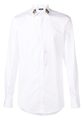 Dolce & Gabbana crown collar shirt - White