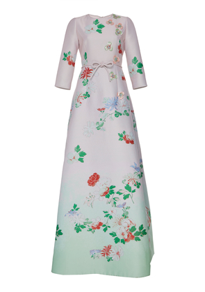Andrew Gn Floral Gown