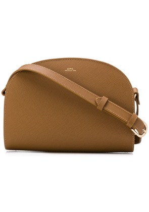A.P.C. rounded crossbody bag - Brown
