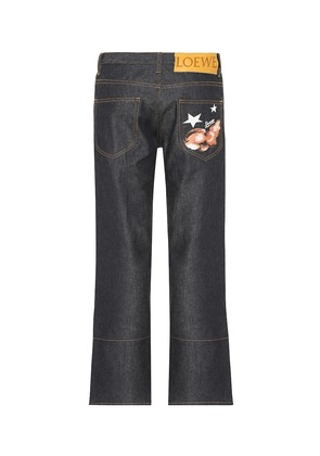 Embroidered straight-leg jeans