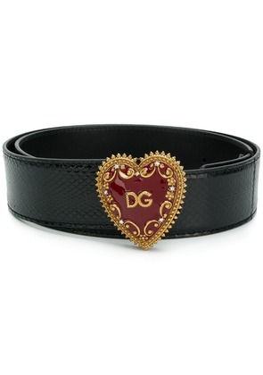 Dolce & Gabbana My Heart DG logo buckle belt - Black