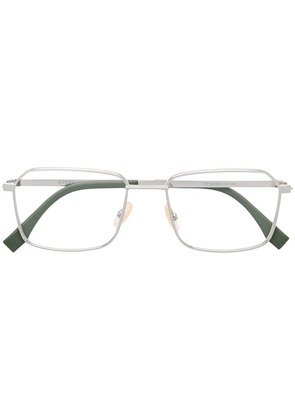 Fendi Eyewear square frame glasses - Silver