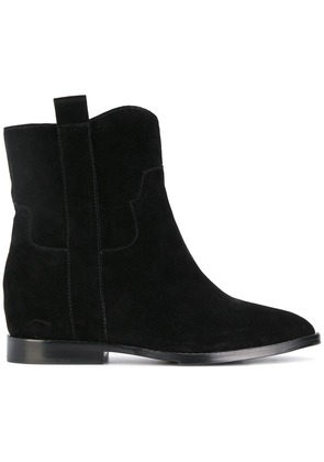 Ash low wedge boots - Black