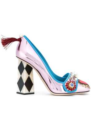 Dolce & Gabbana Jackie pumps with bejewelled appliqué - Pink