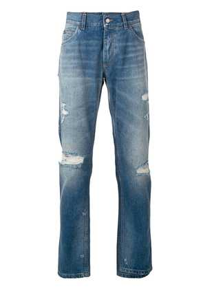 Dolce & Gabbana distressed loose jeans - Blue