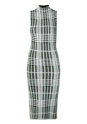 Alice+Olivia fitted check dress - Black