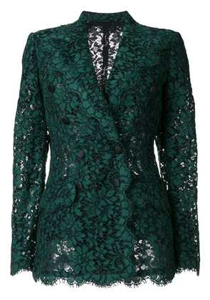 Dolce & Gabbana double breasted lace blazer - Green