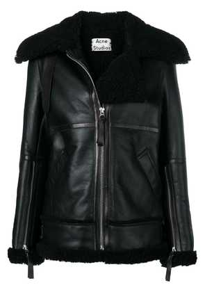 Acne Studios aviator shearling jacket - Black