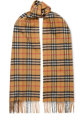 Burberry - Checked Cashmere Scarf - Beige