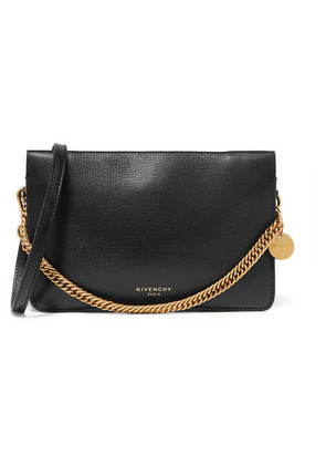 Givenchy - Gv Textured-leather And Suede Shoulder Bag - Black