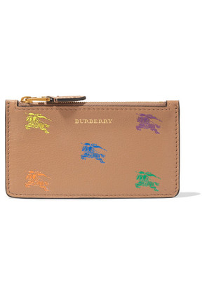 Burberry - Printed Textured-leather Cardholder - Camel