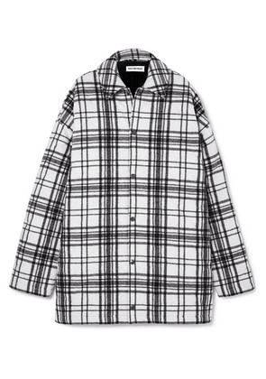 Balenciaga - Oversized Checked Wool-felt Shirt - White