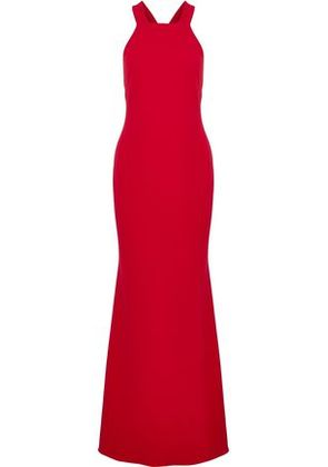 Badgley Mischka Woman Cutout Crepe Gown Red Size 8