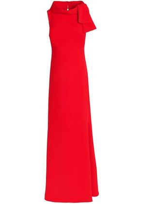 Badgley Mischka Woman Knotted Crepe Gown Red Size 2
