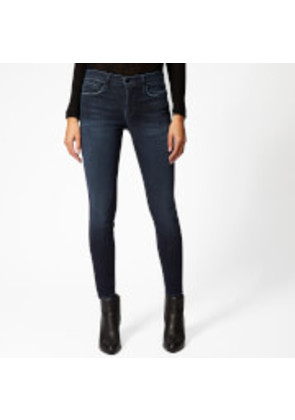 Frame Denim Women's Le Skinny de Jeanne Crop Jeans - St. Jones - W25 - Blue